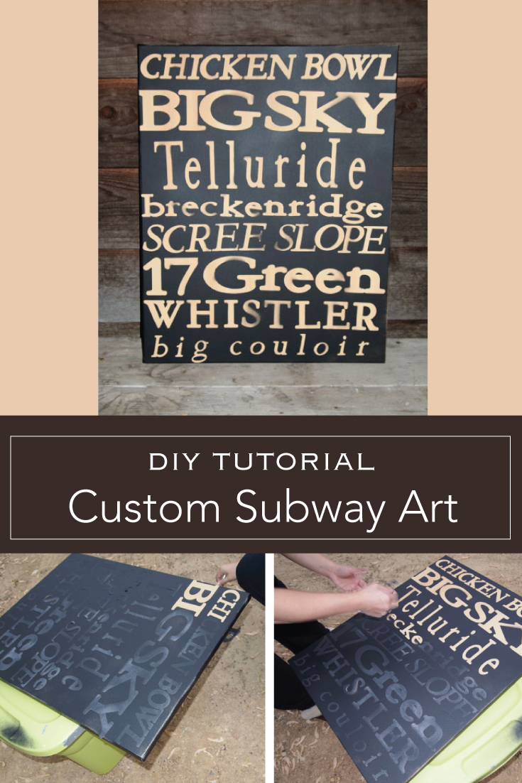 DIY Tutorial Custom Subway Art
