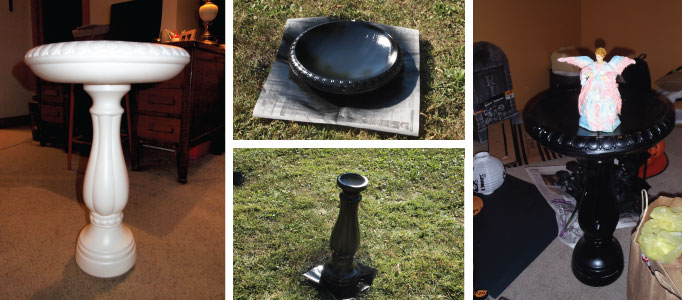 DIY Halloween Decor Haunted Bird Bath