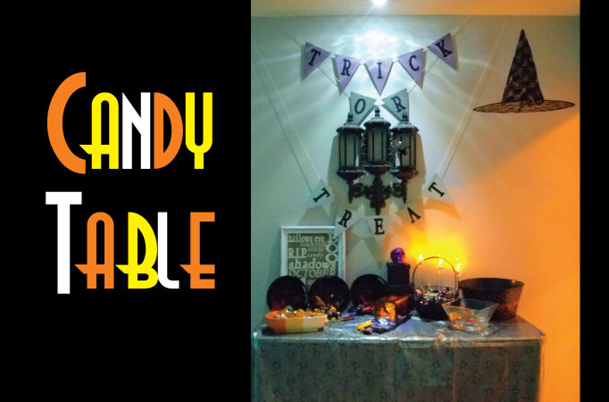 DIY Halloween Decor - Candy Table