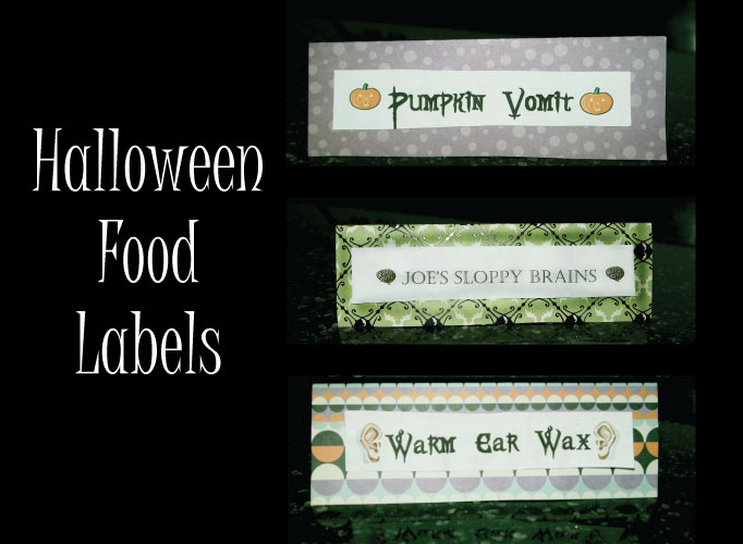 DIY Halloween Party Decor - Food Labels