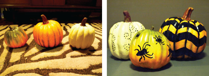 DIY Halloween Projects Painted Pumpkins
