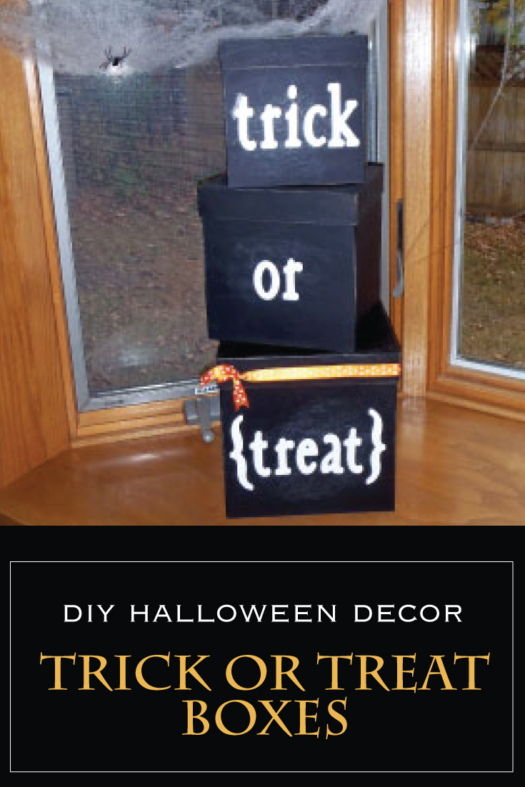 DIY Halloween Trick or Treat Boxes