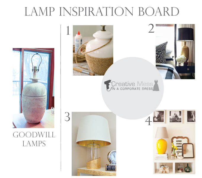 Upcycling Thrift Store Lamps | Creative Mess in a Corporate Dress