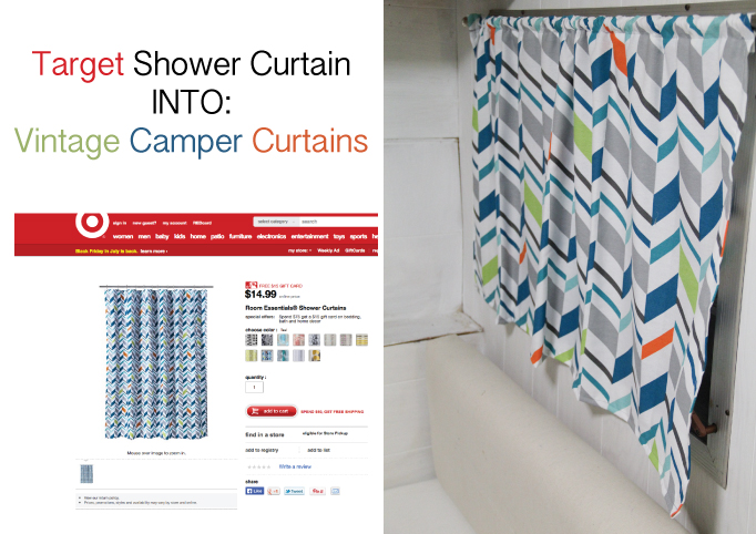 Shower Curtains to DIY Camper Curtains | Creative Mess in a Corporate Dress