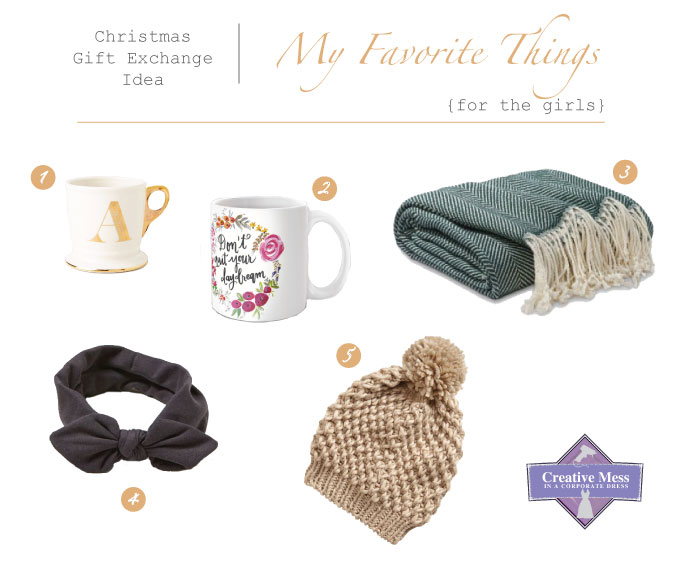 Christmas Gift Exchange Idea - My Favorite Things | Creative Mess in a Corporate Dress